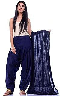 MT Patiyala Cotton Plain Solid Full Patiala Salwar Dupatta Set for Women