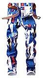 Men's Casual Color Paint Printed Jeans Skinny Red Denim Pants (Colour Paint 5006, 34)