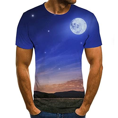 SSBZYES Camiseta para Hombre Verano Camiseta De Manga Corta para Hombre Camiseta De Cuello Redondo para Hombre Mariposa Azul Flying Camiseta Casual De Cuello Redondo para Todos Los Partidos