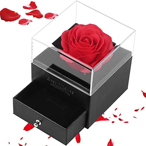 Vegena Rosenbox - Infinity Rosen - Geburtstagsgeschenk für Frauen, Ewige Rose Geschenkbox Muttertag Box mit Rote Rosen Blumen für Freundin Geschenk Jahrestag Valentinstag Geburtstag Muttertag