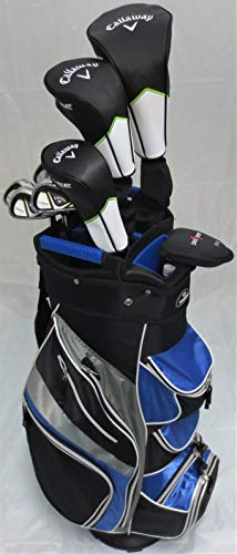 Mens Callaway Complete Golf Set - Driver, Fairway Wood, Hybrid, Irons, Putter Clubs Deluxe Cart Bag...
