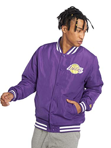 New Era Los Angeles Lakers Bomberjacke, Purple - M