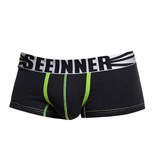 iLXHD Underwear for Men, Breathable Gentleman Comfort Underwear Underwear Shorts Men Boxers Underpants Soft Briefs Black