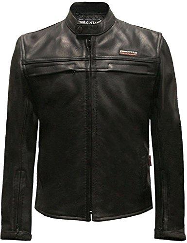 Skintan Kinder echtes Leder Jacke Schwarz 36 14 bis 15 Jahre alt