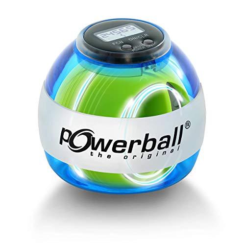 Powerball Max Blue, gyroskopischer Handtrainer mit blauem Lichteffekt inkl. Drehzahlmesser, transparent-blau, das Original von Kernpower