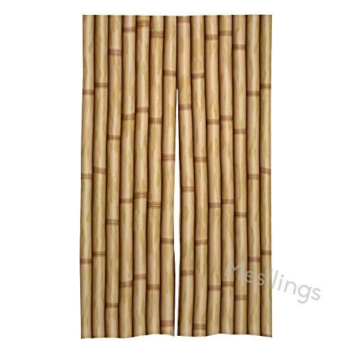 Mesllings - Cortina de bambú para puerta y ventana de casa
