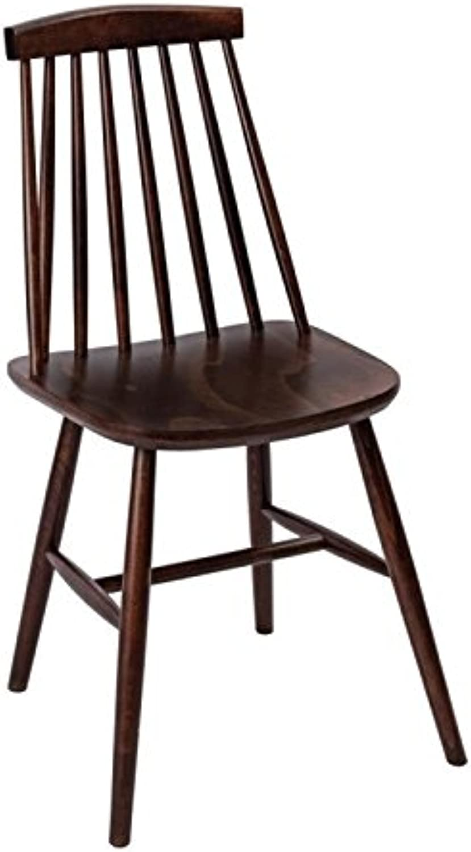 Fameg Farmhouse Angled Sidechair Walnut Effect (Pack of 2)