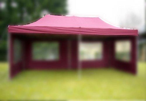 Nexos Pavillondach Ersatzdach Wechseldach für Profi Falt-Pavillon 3x6m - Dachplane 270g/m² PVC-Coating versiegelte Nähte wasserdicht – Farbe: Burgund