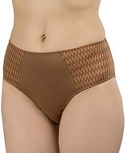 Carole Martin Hipster Bragas de Las Mujeres, Ultra Suave Microfibra Confort Slip Ropa Interior - Marrón - X-Large