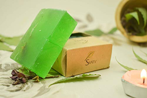 SVATV Handmade Luxury Sugar Soap Neem $ Tulsi Para todo tipo de pieles 100 g Barra