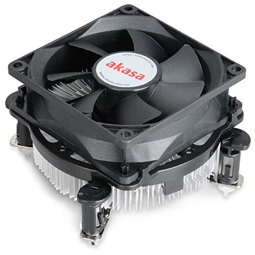 Photo of Akasa Dual Socket Value Cooler   CPU Cooler   VRM Cooling   Aluminium Heatsink   Low Noise PWM Fan   TDP 73W   Designed for Intel LGA775, LGA115X, LGA1200   AK-CCE-7102EP