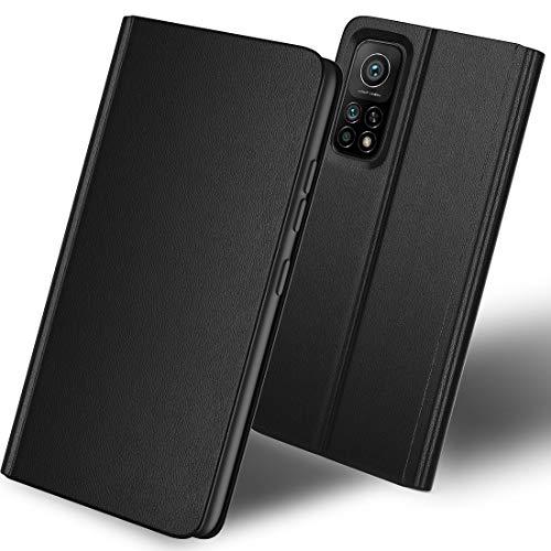 SHINEZONE Handyhülle für Xiaomi Mi 10T 5G / 10T Pro 5G Hülle, Premium Leder Flip Hülle Schutzhülle mit [Kartenfach] [Standfunktion] [Magnetverschluss] für Xiaomi Mi 10T 5G / 10T Pro 5G (Schwarz)