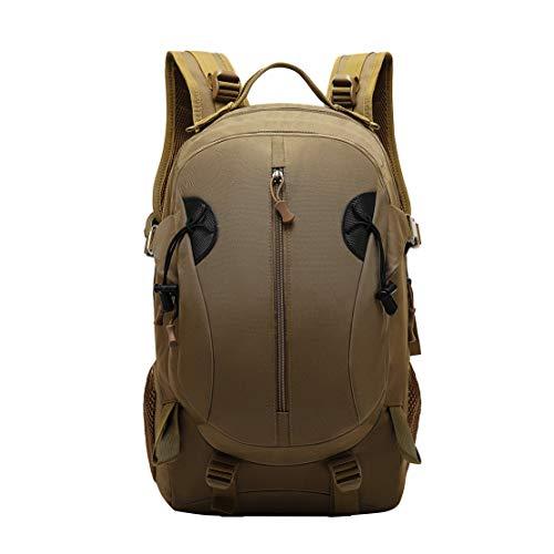 JOTHIN Nylon Armyrucksack Taktischer Rucksack Outdoor Herren Tagesrucksack Wasserdicht Sport Backpack 40L Rucksäcke für Survival Militär(Brown)