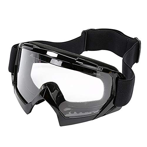 LJDJ Motorcycle Goggles -Dirt Bike ATV Motocross Eyewear Anti-UV Adjustable MX Riding Offroad Protective Glasses Racing Combat Tactical Military Goggles for Men Women Youth Adult