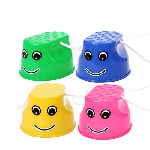 TOYANDONA 4 Unidades de Zancos de Cubo de Plástico para Niños Equipo de Entrenamiento de Zancos de Equilibrio para Niños Juegos Al Aire Libre