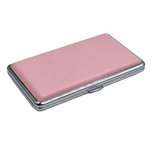 WOHAO Zigaretten-Etui mit leichtem Zigarettenetui rosa Leder Zigarettenetuis for Frauen Zigarre Fall Frau Zigarettenschachtel Fall Geschenke for Männer Tabakbeutel (Farbe: Pink) (Color : Pink)
