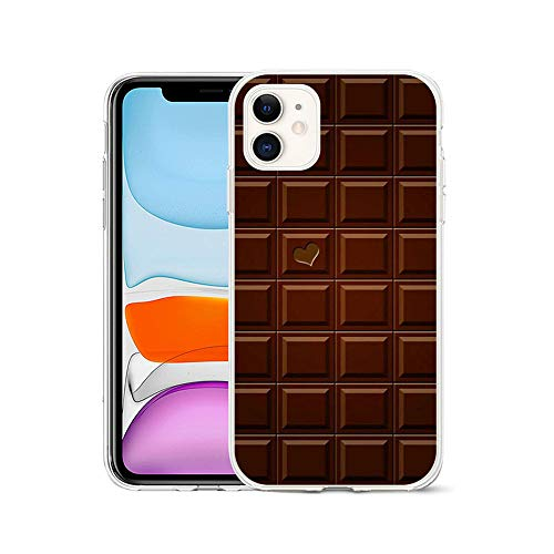 LIUYAWEI Carcasa de teléfono de Dibujos Animados con Helado de Chocolate Donut para iPhone 5 5S 6 6S 7 8 Plus X XS MAX XR 11 Pro12 TPU Funda de teléfono, LYW 13-para iPhone12mini (5.4)