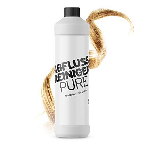 Abflussreiniger Pure Konzentrat 1000 ml I der Rohrreiniger für Waschbecken oder Dusche I geruchsneutral und chlorfrei I effektiv gegen starke Verstopfungen wie. z.B. Haare oder Seifenreste
