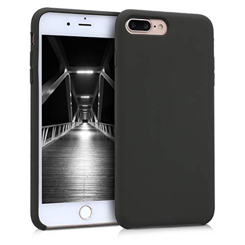 kwmobile Cover Compatibile con Apple iPhone 7 Plus / 8 Plus - Cover Custodia in Silicone TPU - Back Case Protezione Cellulare Verde Oliva Opaco