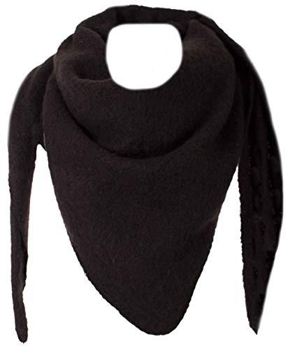 FASHION YOU WANT XXL Schal flauschig schal-tuch damen dicker dreieckstuch groß Wolle UNI Farben kuschelig (schwarz)