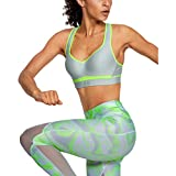 Under Armour Warp Knit High Impact Sujetador Deportivo, Mujer, Verde, 36DD