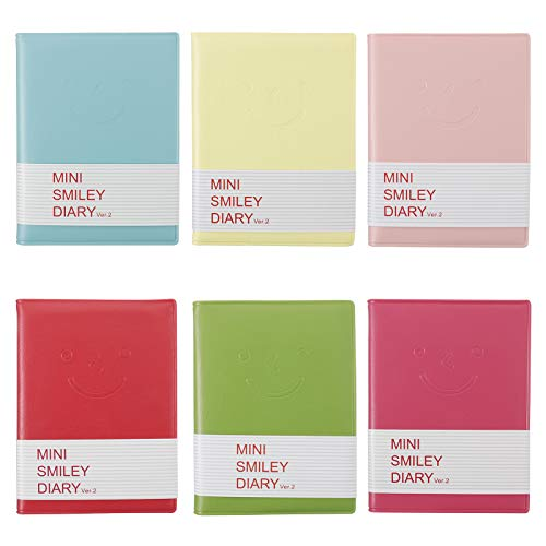 AUXSOUL 6 Mini Cuadernos, Cuadernos Sonrientes, Cuadernos Súper Pequeños y Bonitos, Mini Cuadernos Portátiles de Viaje Multicolores para Adultos y Niños