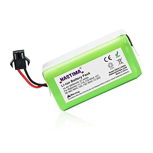 NASTIMA 14.4V 2600mAh Batería de Repuesto de Iones de Litio Compatible con Conga Excellence 990, 950, 1090, IKOHS Netbot S14, S15, Ecovacs Deebot N79, N79S, DN622 y Eufy RoboVac 11, 11S, 30, 35C