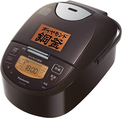 パナソニック 炊飯器 1升 IH式 ブラウン SR-FD180-T