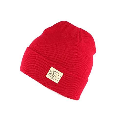 JBB COUTURE Bonnet Rouge avec Revers - Mixte