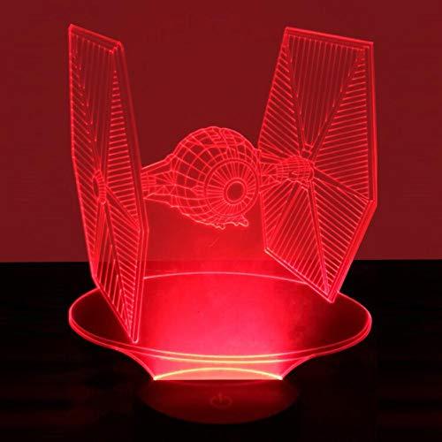Yujzpl 3D Illusion Lampe Led Nachtlicht Mit 7 Farben Flashing & Touch-Schalter,Für Schlafzimmer Kinder Weihnachts Valentine Geburtstag Geschenk[Energieklasse A++]Kämpfer