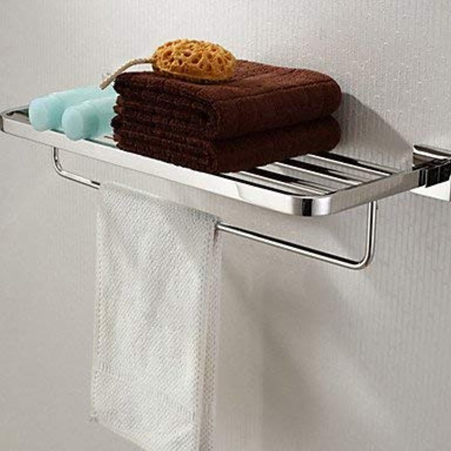 Wghz Bathroom Shelves@Bathroom Shelf Stainless Steel Wall Mounted 600x 220 x 120mm (23.6 x 8.66 x 4.72 Stainless Steel Contemporary