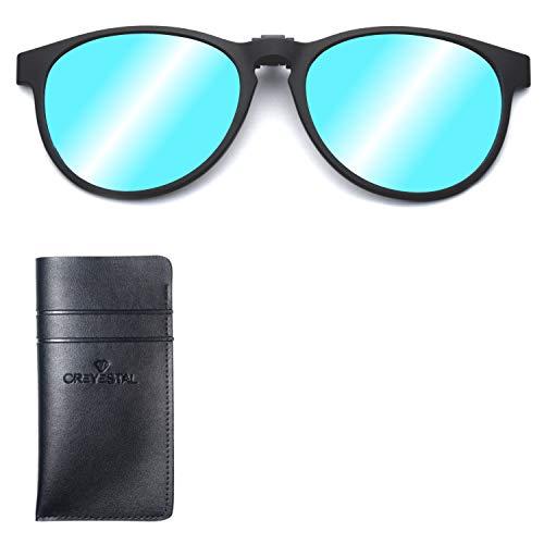 CREYESTAL Clip Gafas de Sol Polarizadas Flash Azul, Clip...