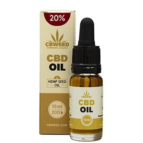 CBWEED - Olio di Canapa aromatico CBD 20% - 10 ml - Senza conservanti artificiali