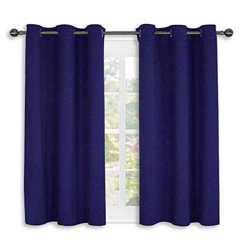 NICETOWN Living Room Blackout Curtain Panels, Window Treatment Energy Saving Thermal Insulated Solid Grommet Blackout Drapes/Draperies (Royal Navy Blue, 1 Pair,42 by 54-Inch)