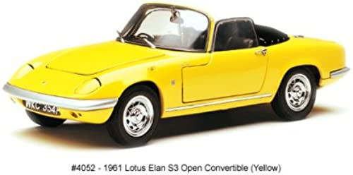 Sunstar 1 18 Scale Diecast - 4052 1966 Lotus Elan S3 Open Convertible jaune