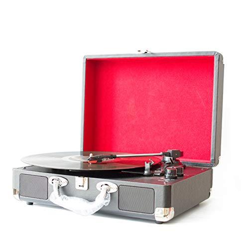Boenxuan Plattenspieler Koffer, Bluetooth, Retro Plattenspieler Mit Lautsprecher, USB Record Player Schallplattenspieler Vinyl Turntable Integrierte Lautsprecher,Messing