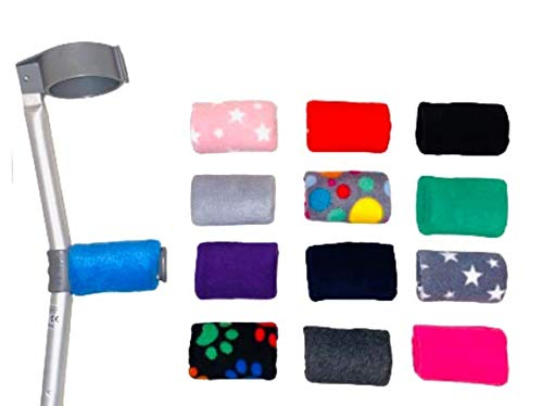 Comfy Handle Padded/Pad Covers Pair. Choice of Colours/Designs Black, Blue, Red, Grey Multi Spot, Pink Star, Purple, Grey Stars, Dark Grey, Pink, Navy, Black Multi Paw, Light Grey, Green