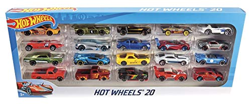Mattel Hot Wheels H7045/Pack DE 20, Set de Regalo, Zufallige Coches/Modelos