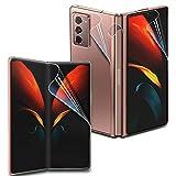 GOBUKEE [1 Set 4 Stück] für Samsung Galaxy Z Fold 2 5G Bildschirmschutzfolie + Scharnierschutz Anti-Shock, HD klar, GO-Flex, selbstheilende TPU-Folie für Galaxy Z Fold2 [Installationsvideo]