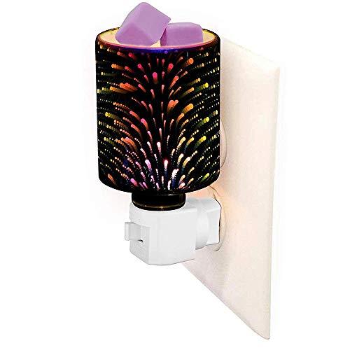 Hines Wachswärmer für elektrische Steckdose Scentsy Candle Warmer Plug In Wax Melts Warmer Duft 3D Glas Feuerwerk Effekt Wandleuchte