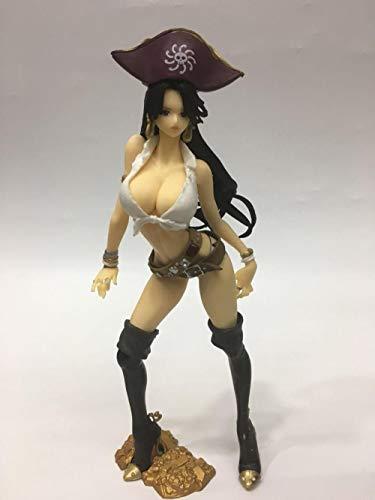 Anime Modell Anime Statue Pirat / Navy König Fluch der Karibik Kapitän Flash Piratin Kaiser PVC bewegliche Puppe Sammlerstück Geschenk Ornamente Höhe: 21cm