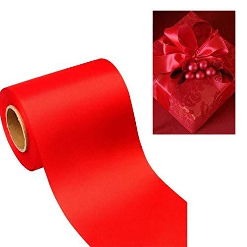 NaisiCore Cinta de poliéster 25MM 10M Craft Cintas Rojas Impreso para la Boda Decoraciones de la Fiesta de cumpleaños