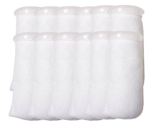 Lot DE 12–10,2 cm Bague Filtre Chaussette 200 Micron – Aquarium Feutre Sacs filtrants -4 Bague de Pouce en 21,6 cm de Long [Version Courte] – Compatible avec Eshopps et Aqueon
