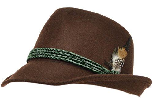 Chapeau traditionnel marron - Marron - 54