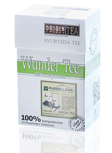 Origin Ceylon Tea Wunder Tee - Moringatee Ayurveda 15 Pyramiden-Teebeutel direkt von der Plantage aus Sri Lanka