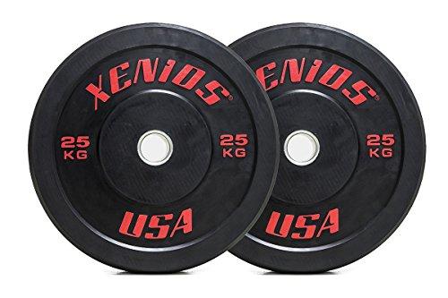 Xenios USA XSBPRBPL25, Training Bumper Plate Unisex, Nero, Taglia Unica