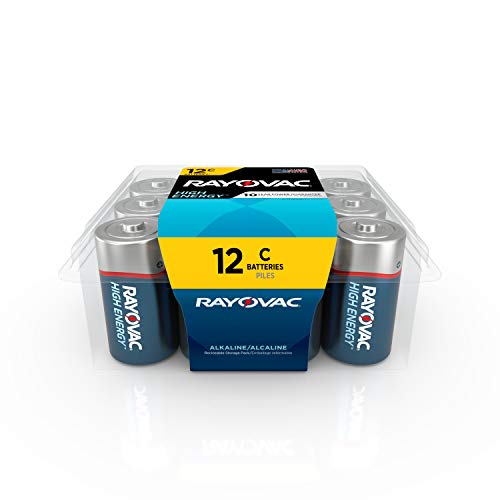 Rayovac C Batteries, Alkaline C Cell Batteries (12 Battery Count)