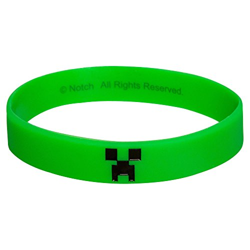 JINX Minecraft Creeper Bracelet, Large, Green