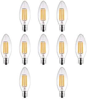 LED シャンデリア球 E17 4w 非調光対応 フィラメント電球 クリア電球 360°広配光 40W形相当 100v 400Lm 2700K電球色 レトロな雰囲気重視!省エネ!
