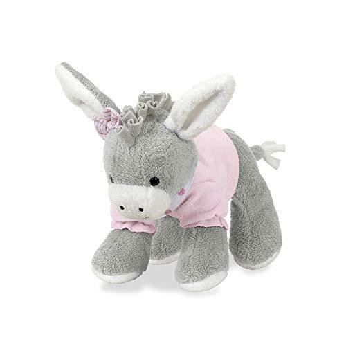 Sterntaler Spieltier Emmi Girl, Integrierte Rassel, Alter: Für Babys ab der Geburt, 20 cm, Pink/Grau